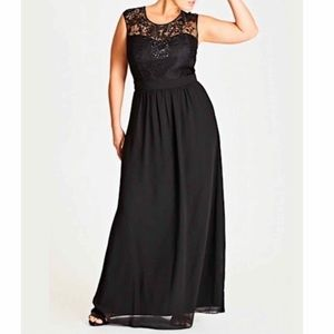 Beaded Lace Maxi Dress / Gown